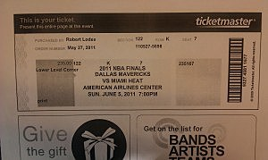 NBA Finals Ticket