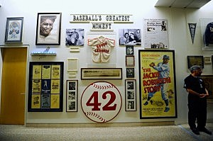 Jackie Robinson display at Dodgers Stadium