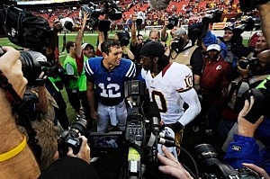 Andrew Luck and RGIII
