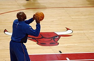 Michael Jordan with Wizards in Chicago