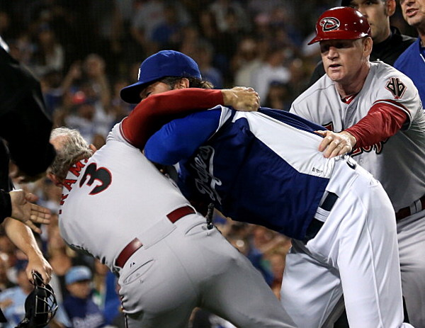 Benches Clear Twice In Dodgers-Diamondbacks Game