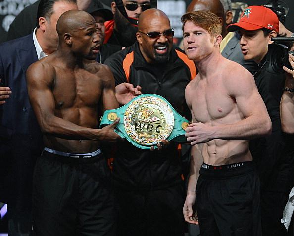 Floyd Mayweather Jr. v Canelo Alvarez - Weigh-In