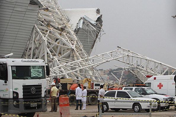 Crane Collapses At Itaquera World Cup Stadium In Brazil