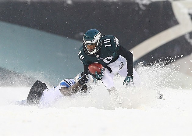 Snow Photos From The Lions Vs Eagles Game