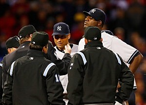 watch yankees pitcher Michael Pineda get tossed for having pine tar on his neck,michael pineda,new york,yankees,baseball,boston,red sox,tossed,pine tar,neck,yankees pineda thrown out,new york yankees,yankees pitcher ejected,yankees pine tar,pineda pine tar,pineda pine tar video,pineda ejection video,yankees ejection video