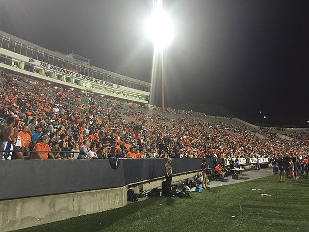 A crowd of 21,419 saw UTEP fall to Southern Miss as they opened C-USA play. (Photo by Brandon Cohn)