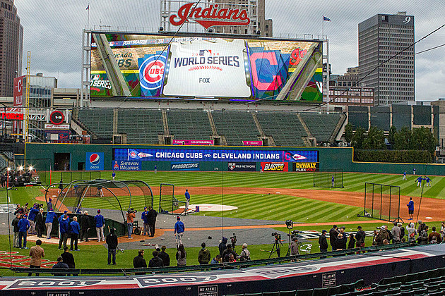MLB: OCT 24 World Series - Cubs and Indians Workouts