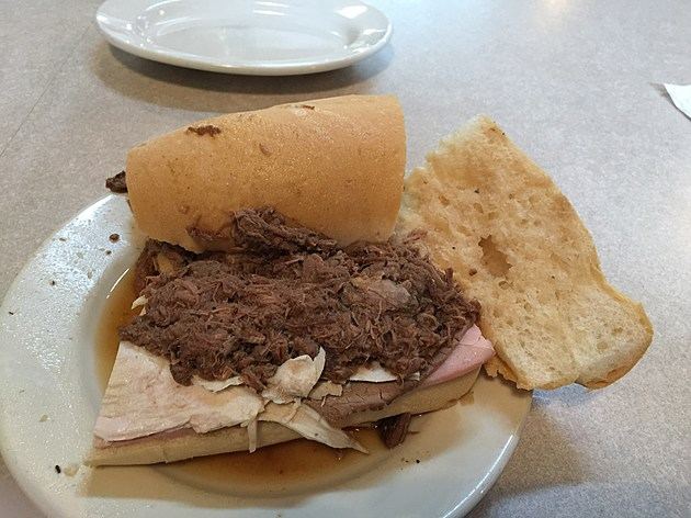 Mother's is a legendary establishment in the 'Crescent City' of New Orleans, and has been serving some of the best cajun food since 1938.  There po boys are the best I've ever had.  Here is the John G with ham, turkey, roast beef and debris, which is their famous gravy.